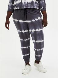 Classic Fit Jogger - Terry Grey & White