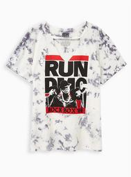 Choker Tee - Run DMC White Wash