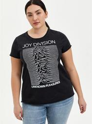 Joy Division Black Mineral Wash Crew Tee