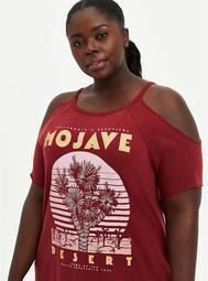 Mojavi Red One Shoulder Tee