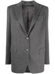 single-breasted cashmere blazer