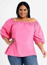 Tall Square Neck Puff Sleeve Top