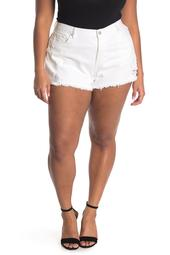 Hi-Rise Rigid Denim Shorts