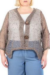 Coconut Button Bolero Jacket
