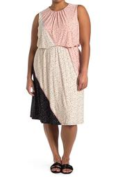 Textured Speckle Jersey Dress