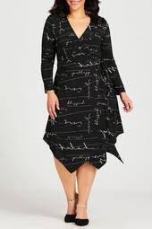 Sofia Print Wrap Dress