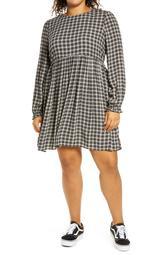 Frill Cuff Long Sleeve Dress