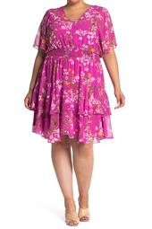 Smocked Waist Floral Print Dress