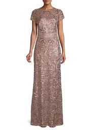 Embellished Column Gown