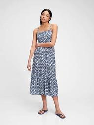 Squareneck Fit & Flare Midi Dress
