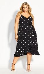 Dreamy Spot Dress - black
