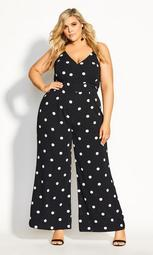 Spotty Jumpsuit - black