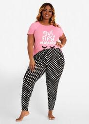 YMI Mascara Polka Dot PJ Pants Set