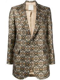 single-breasted jacquard jacket