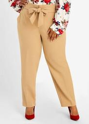 Belted High Waist Ankle Pant