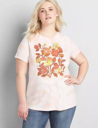 Tie-Dye Floral Graphic Tee