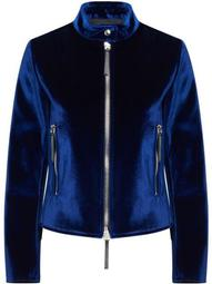 velvet zip-up jacket
