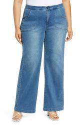 Teresa Wide Leg Utility Jeans