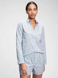 Adult Pajama Shirt in Poplin