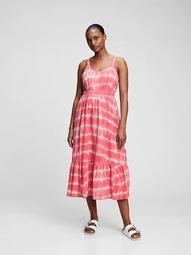 Scoopneck Fit & Flare Midi Dress