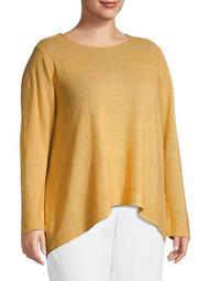 Plus Organic Linen Sweater
