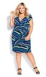 Donna Print Dress - blue