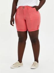 Pink Poplin Bermuda Short