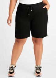 Cotton High Waist Athleisure Shorts
