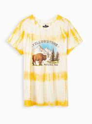 Classic Crew Tee - Yellowstone Yellow Tie-Dye