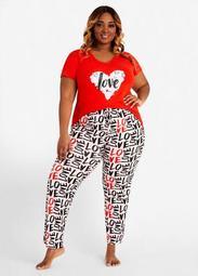 YMI Love Is Graffiti PJ Pants Set