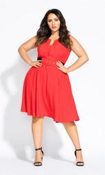 Vintage Veronica Dress - red