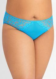 Mesh & Lace Cutout Brief Panty