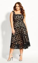 Lace Avery Dress - black