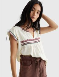 Emb Woven Top