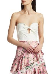 Arianna Keyhole Strapless Cropped Top