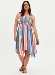Handkerchief Dress - Crinkle Gauze Multi Stripe