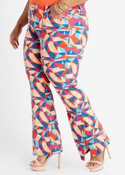 Geo Hi Rise Flare Split Leg Jean