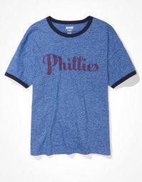 Tailgate Women's Philadelphia Phillies Ringer T-Shirt