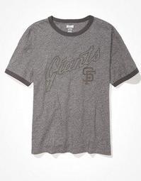 Tailgate Women's SF Giants Ringer T-Shirt