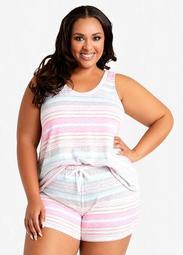 Kensie Knit Top & Shorts PJ Set