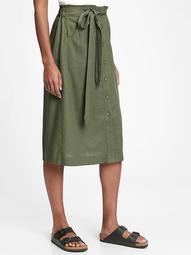 Tie-Front Midi Skirt