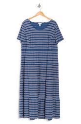 Stitched Stripe Scoop Neck Dress