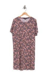 Hacci Knit Floral Print Dress