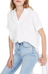 Band Sleeve Popover Shirt