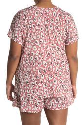 Leopard Print Twisted Hem T-Shirt