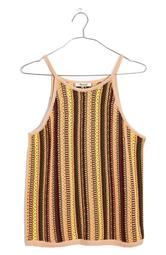 Rainbow Stripe Janson Crochet Sweater Tank