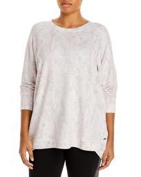 Snake Print Fleece Pullover Sweatshirt