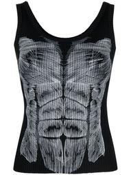 muscle-print sleeveless top