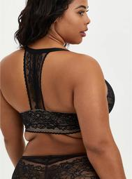 Black Lace Lightly Lined Front Closure T-Shirt Bra