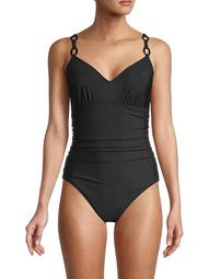 Randal Ruched One-Piece Swimsuit